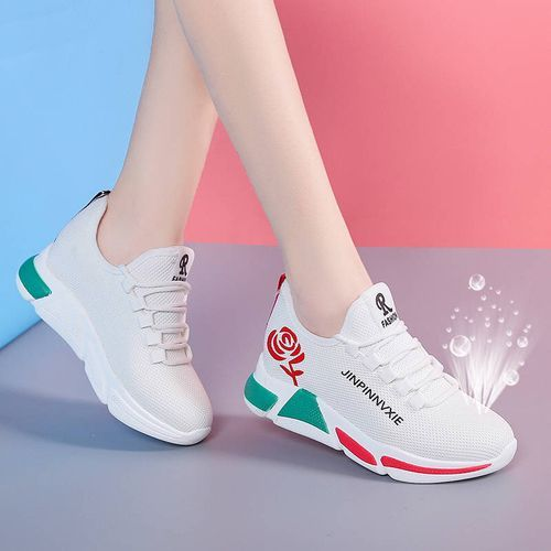 Women's Fashion Shoes Outdoor Sports Sneakers - White
