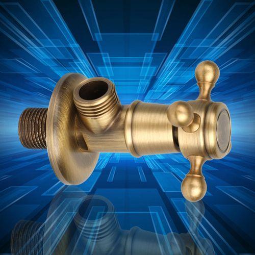 Bathroom Brass Triangle Valve Toilet Hardware Vintage Golden Angle Valve