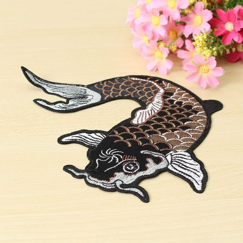 Cute Fish Embroidered Patches Iron On Or Sewing Patch Badge