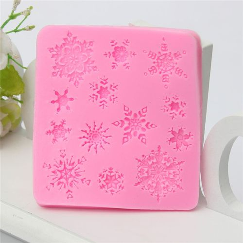 Silicone Cake Pastry Mold Romantic Love Snowflake Shape Fondant Sugar Craft Home Kitchen DIY Snow Decoration