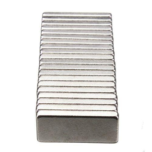 20pcs N35 Grade Strong Block Magnets 15mm X 6.5mm X 2mm Rare Earth Neodymium