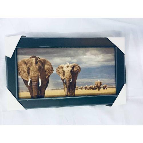 Customised Aluminium Wild Elephant Picture Frame-2
