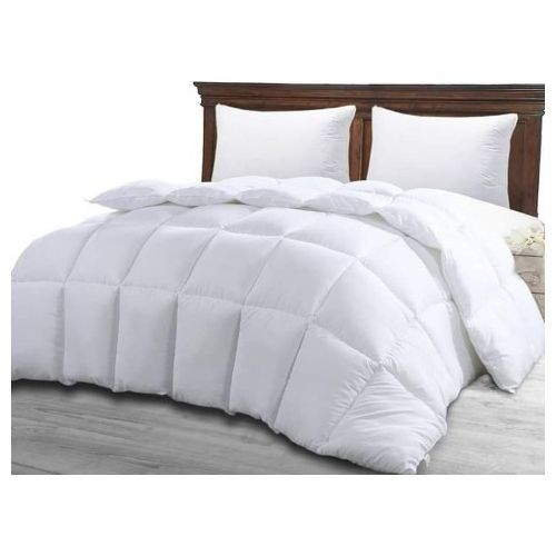 Plain White Set Duvet,Bedsheets And 4 Pillowcase.