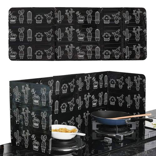 Cooking Kitchen Oil Baffle Plate Splatter Guard Stove Heat