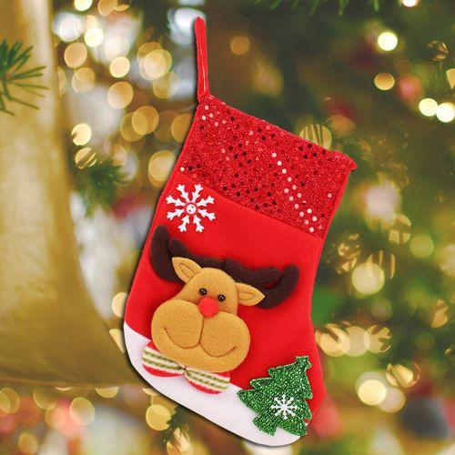 Personalised Kids Luxury Embroidered X'mas Stocking Sack Santa Christmas Gifts