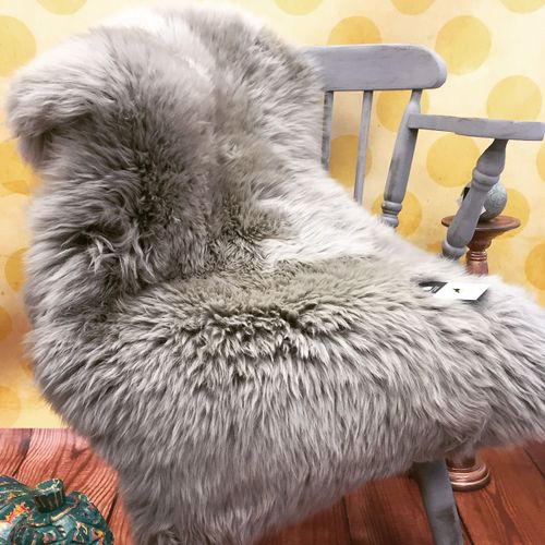 60X100cm Soft Warm Silver Grey Rug Fur Sheep Wool Chair Sofa Cover Mat Area Rug