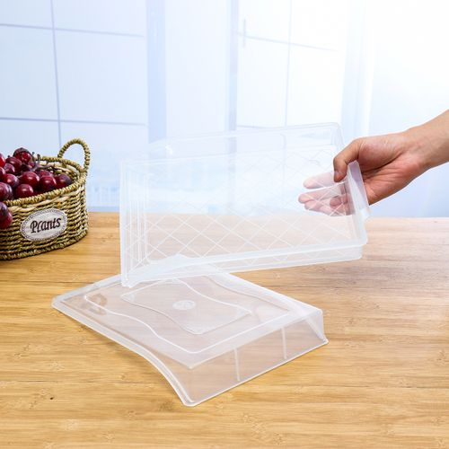 Transparent Kitchen Frozen-Dumpling Storage Boxes Home Refrigerator Storage Box Fresh-keeping Tray Organizer Dustproof Container