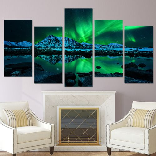 5Pcs Canvas Huge Modern Wall Art Oil Painting Picture Print Unframed Home Decor
