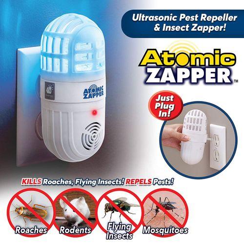 Atomic Zapper 2-in-1 Ultrasonic Pest Repeller & Bug Zapper