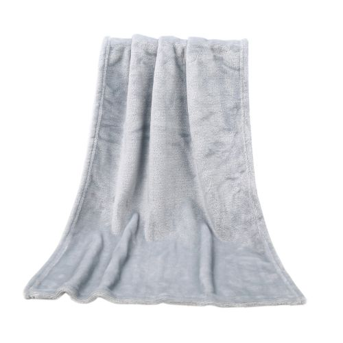 Hiamok_Dtrestocy 45*65CM Fashion Solid Soft Throw Kids Blanket Warm Coral Plaid Blankets Flannel