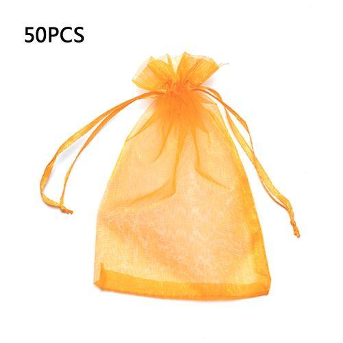 Pearl Mesh Bag Sample Candy Packaging Drawstring Orange