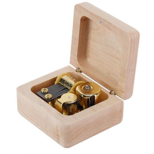 Wooden Engraved Music Box Romantic Muscial Toy Birthday Anniversary Valentine's Day Gift