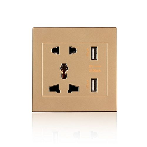 Socket Plate Dual USB Port Electric Wall Charger Dock