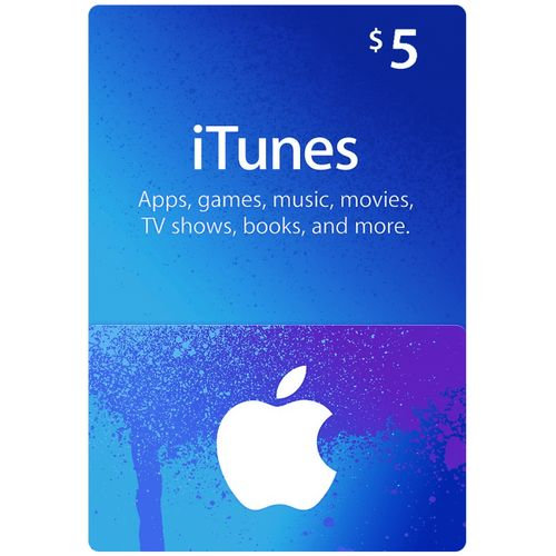 Apple ITunes 5 USD Apple Store Credit / Prepaid Card