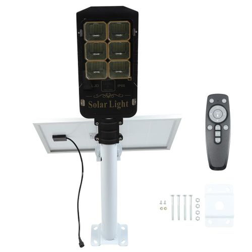 Outside Solar Remote Control Landscape Street Yard LED Lamp Garden Wall Mount Light
