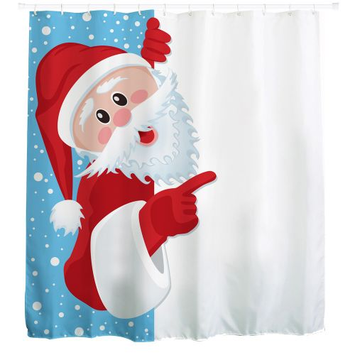 Dtrestocy Christmas Kids Waterproof Polyester Bathroom Shower Curtain Decor With Hooks E