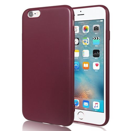 For 6Plus 6SPlus Case Cell Phone Case For IPhone Soft Silicone Cover-Wine Red