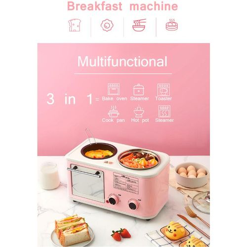 Household Breakfast Machine Mini Bread Toaster Baking Oven Omelette Fry Pan Hot Pot Boiler Food Steamer