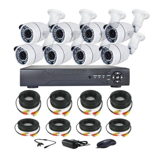 8 Channel CCTV Camera Kit (AHD) High Definition Nightvision Internet Enable Remote View