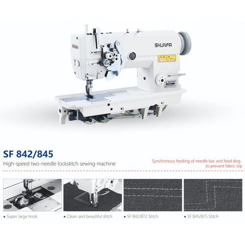 Industrial High Speed Sewing Machine Two Needle 842- White
