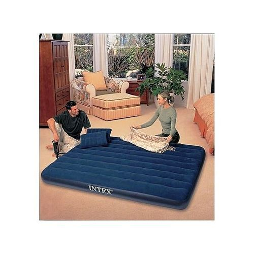 Queen Size Classic Downy Airbed + Pump + Pillows - 2 Persons