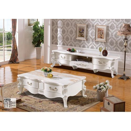 Marble Center Table With TV Shelve (Lagos, Ogun Delivery)