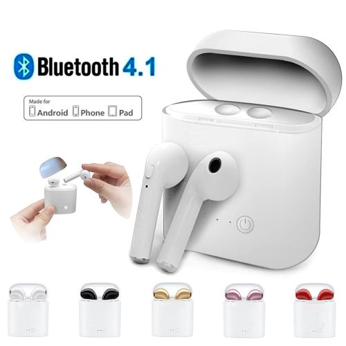 MILU I7s TWS Twins Wireless Earbuds Bluetooth Stereo Headset Earphone Set For Android And Ios Phones