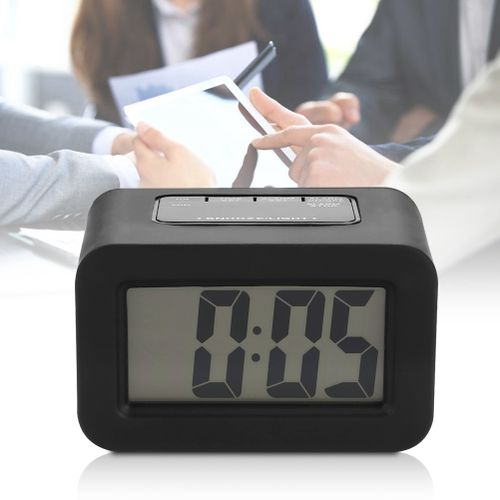 Household Exquisite Digital LED Electronic Desk Table Alarm Clock 24 Hour Display
