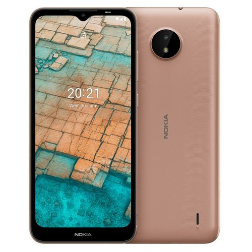 "C20 (TA-1352 DS) 6.5"" HD+ Display, 2GB RAM + 16GB ROM, 3000mAh, Android 11, 5MP + 5MP Camera, 4G LTE, Face ID - Sand"
