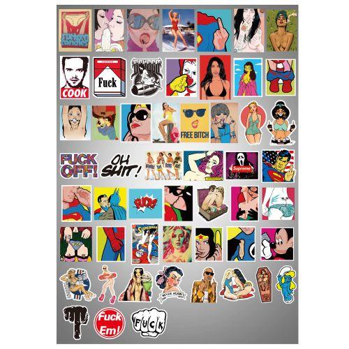 Random Sex Violation Music Film Mixture Sticker Decals