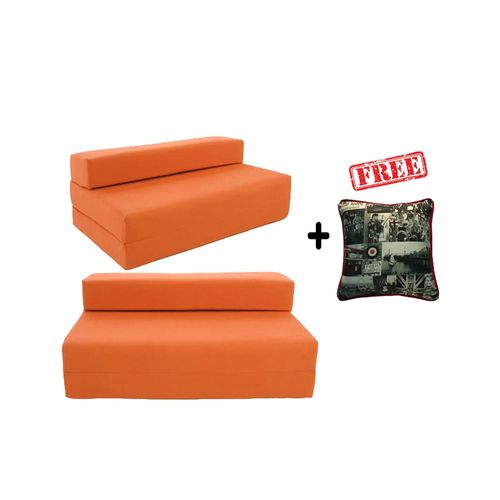 Folding Bed/Chair -Orange- 3-Seater