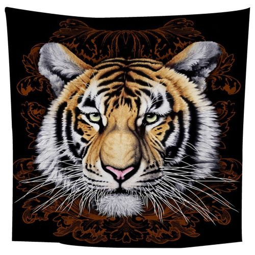 Dark Flower Tiger Head Tapestry Art Wall Decor Hanging Colorful Perfect Gift Colorful