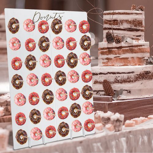 DIY Donut Wall Hold Candy Sweet Stand Wooden Table Holder Wedding Decor Supplies