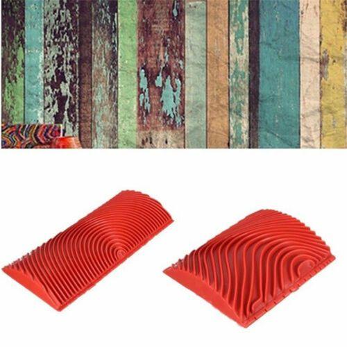 Hot Paint Tool Sets Rubber Wood Grain Imitation Wood Graining Pattern Wall Texture Art DIY Brush Painting Tool Home Decoration