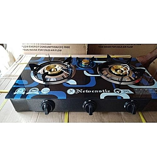 Quality 3 Bunner Top Glass Gas Cooker