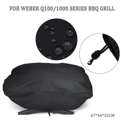 Waterproof Dust Grill Cover For Weber 7110 Fits Q100/1000 Series BBQ Grill