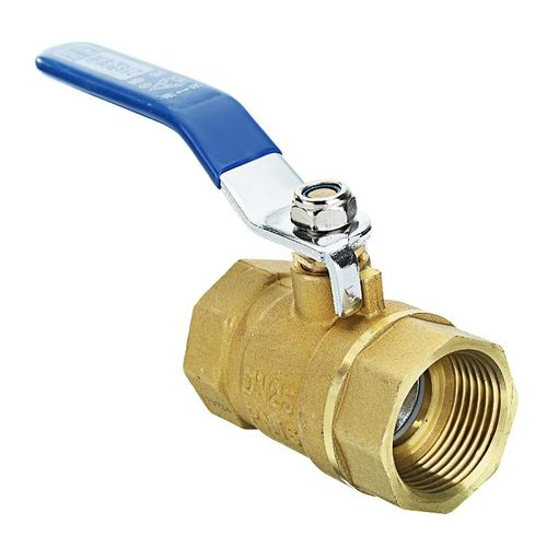 TMOK 1inch Brass Ball Valves Two Piece Inline Lever Handle BSP Female Thread