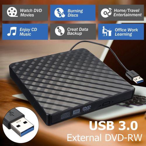 External USB 3.0 DVD RW CD Writer Slim Drive Burner Reader Player For PC Laptop