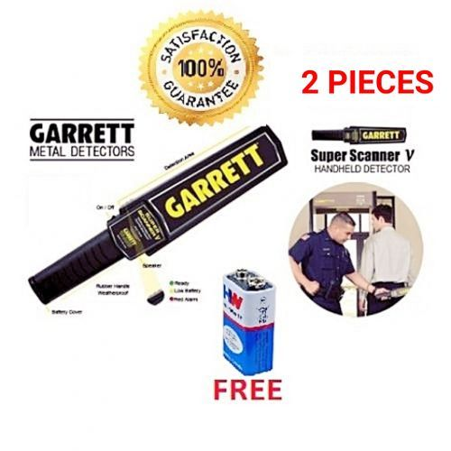 Handheld Metal Detection Scanner With FREE 9 Volt Battery