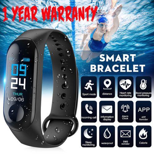 Smart Watch Blood Pressure Heart Rate Monitor Wristband