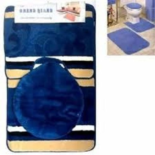 Colourful Bathroom Foot Mat And Toilet Set Cover
