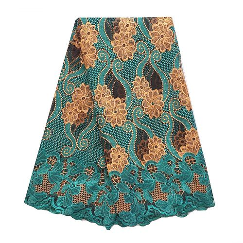 New Arrival African Tulle Swiss Net French Lace Fabric-Teal