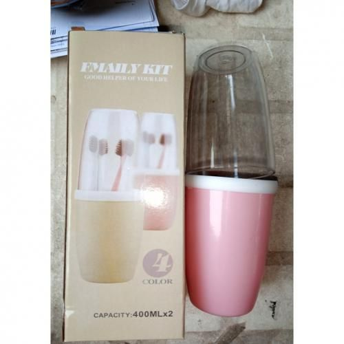 Toothpaste & Toothbrush Holder With Transparent Cup