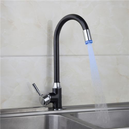 Water Powered LED Light Swivel Kitchen Faucet