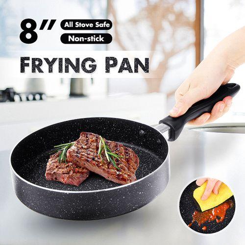 Frying Pan Durable 8'' Non-stick Flat Frying Pan