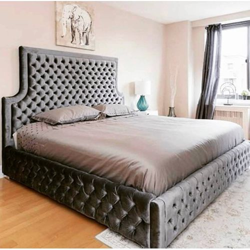 Densi Tan 6 By 7 Feet Bedframe Only