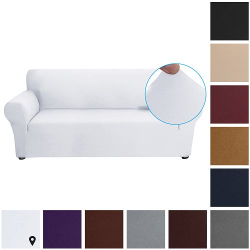 Stretch Sofa Slipcover Milk Silk Fabric Anti-Slip Soft