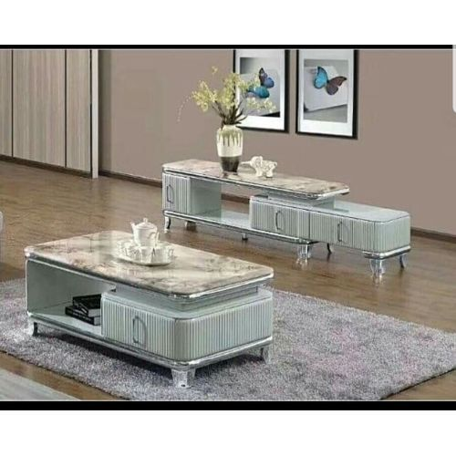 Marble Center Table With TV Shelve (Lagos,Delivery Only)