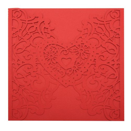 10Pcs European Style Wedding Invitations Cards Carving Birthday Party Invitations Envelopes