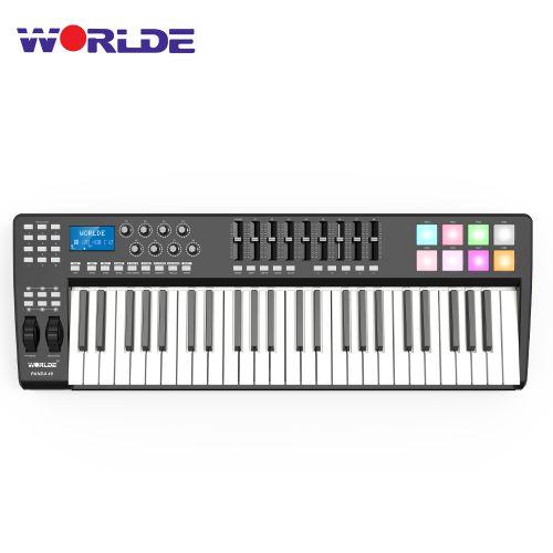 WORLDE PANDA49 Portable 49-Key USB MIDI Keyboard Controller-RGB Light Backlit